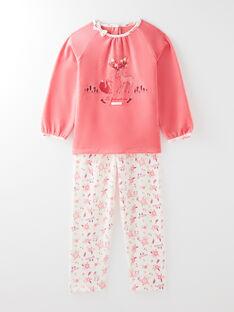 Pyjama rose petite fille  VEJULIETTE / 20H5PF36PYJ404