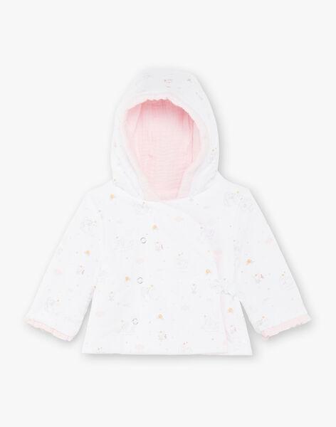 Veste à capuche rose pâle bébé fille ZOLIKA / 21E0CFG1VES301