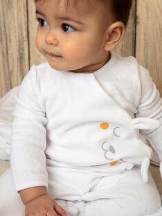 Dors bien en velours fantaisie blanc et bonnet bébé mixte ZOJUDE_B / 21E0NMG1GRE000
