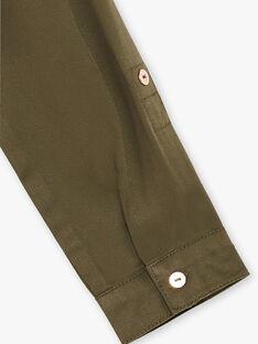 Robe chemise kaki reserrée à la taille ZERECETTE / 21E2PF72ROB604