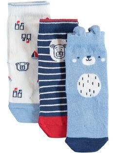 Lot de 3 paires de chaussettes bébé garçon  TIVADE / 20E4BG92LCH001