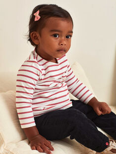 T-shirt manches longues marinière bébé fille BAMIRA / 21H1BFM1TEE001