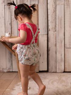 Bloomer à bretelles imprimé palmier bébé fille ZASANDRA / 21E1BFU1SHO321