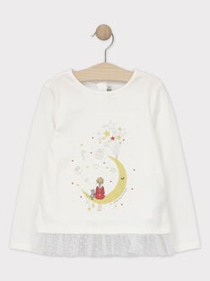 Tee-shirt Noël manches longues animation fille SEUDAETTE / 19H2PFP2TML001