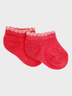 Chaussettes Basses rose bonbon bébé fille SACHAUSSE / 19H4BF31SOBD325