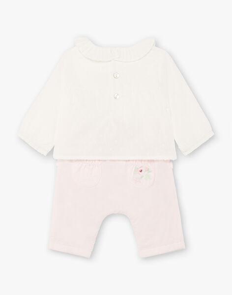 Ensemble body blouse et pantalon naissance fille BOLISA / 21H0CF42ENS301