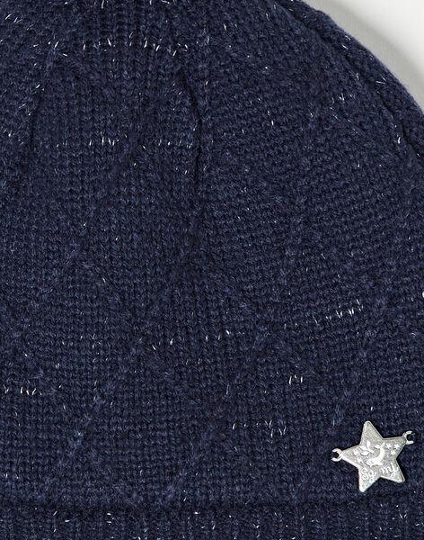 Bonnet marine en tricot  VELAOETTE / 20H4PFJ3BON705