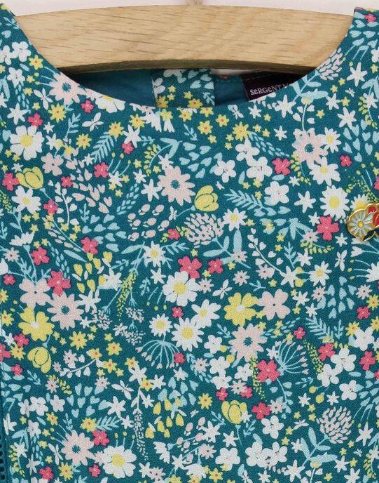 Robe imprimé vert RADYVETTE / 19E2PF61ROBG618