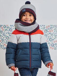 Parka tricolore intérieur polaire enfant garçon BASIOTAGE / 21H3PGE1PARC230