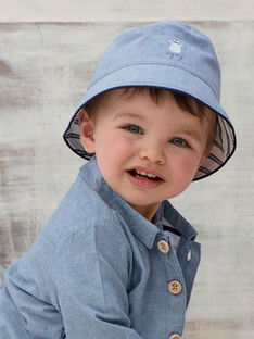 Chapeau bob en chambray réversible bébé garçon ZAOTMAN / 21E4BGT2CHAP265