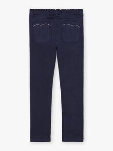 Pantalon uni bleu marine enfant fille BROSAETTE1 / 21H2PFB3PANC214