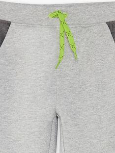 Pantalon de jogging gris à détails contrastés enfant garçon ZEBALAGE1 / 21E3PGK2JGBJ924
