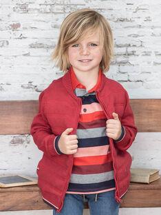 Gilet rouge en maille enfant garçon BUXATAGE3 / 21H3PGB1GIL501