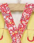 Salopette rose imprimé fleuri bébé fille RADAPHNE / 19E1BF61SALD301