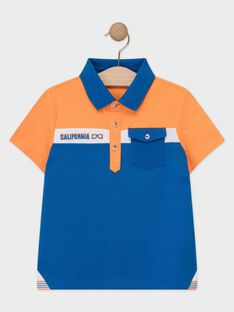 Polo orange et bleu garçon  TEBRUAGE / 20E3PGG1POL400