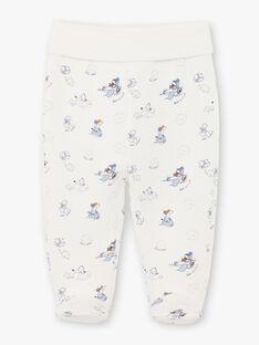Gilet et pantalon ciel et blanc naissance garçon BONIFACIO / 21H0NG42ENS219