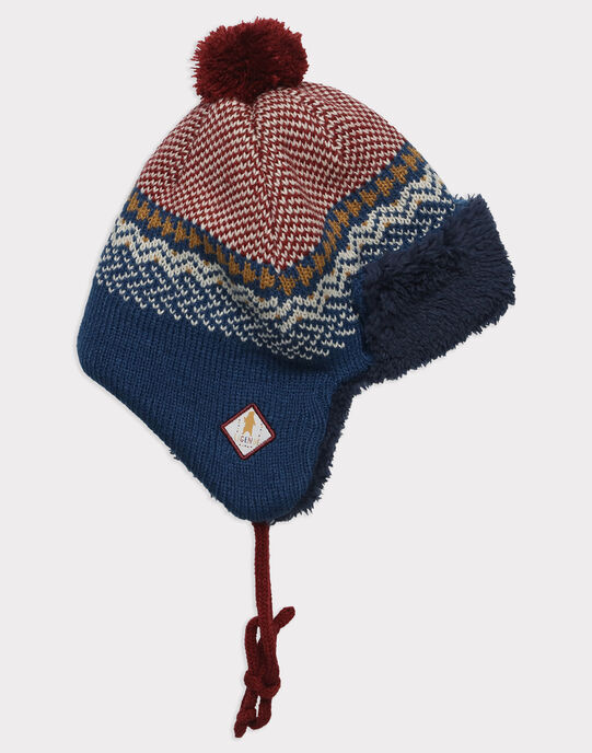 Bonnet bleu à motif jacquard garçon SEFOLAGE / 19H4PGI2BON717