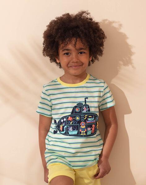 Ensemble de plage bicolore T-shirt et short enfant garçon ZIPALAGE3 / 21E3PGQ1ENS001
