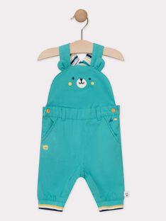Salopette bébé garçon bleu turquoise  TAENZO / 20E1BGD1SAL209