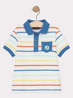 Polo manches courtes à rayures multicolores garçon  TUPOLAGE 3 / 20E3PG92POLC201
