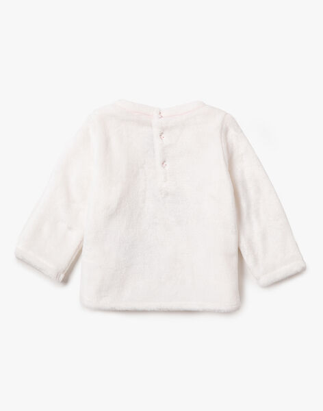 Pull blanc en fausse fourrure VAOLIVIA / 20H1BFW1PUL001