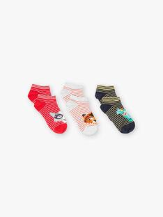 Lot de 3 paires chaussettes basses style animaux ZASICAGE / 21E4PGK1LCB713