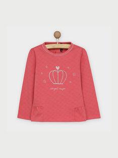 Tee shirt manches longues rose RABUMETTE / 19E2PF42TML303
