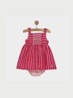 Robe chasuble rose RATILDA / 19E1BFP1CHS309
