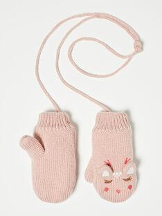 Moufles roses en tricot  VEPUOETTE / 20H4PFJ2GAND313