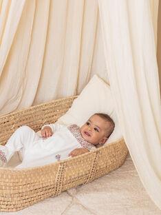 Grenouillère et bonnet en velours écrue bébé fille BEBETTY / 21H5BF63GRE001