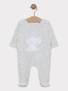 Dors bien en velours gris chiné bébé mixte SYANIS / 19H0NM11GRE000