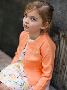 Veste orange en sergé de coton brodée enfant fille ZIJAKETTE / 21E2PFO1VES406