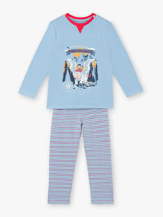 Pyjama bleu en velours  ZEBAGAGE / 21E5PG15PYJC233