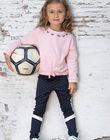 Legging bleu marine à pois enfant fille BROLEGETTE / 21H2PF31LGS070