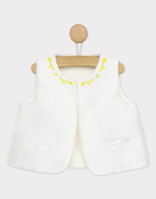 Cardigan sans manches blanc RYEVA / 19E1BFS1CSM001