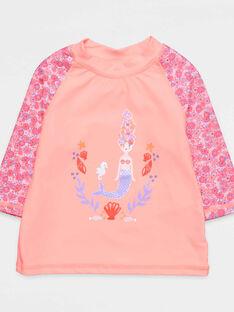 Tee-shirt anti-uv corail NYSOFETTE / 18E4PFV1TUV311