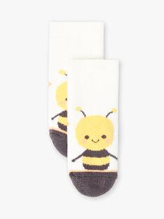 Chaussettes bouclettes écrues abeille ZACOREY / 21E4BG92SOQ001