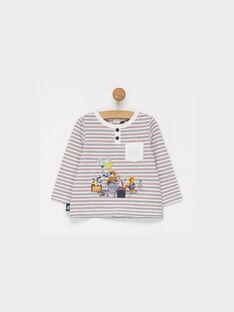 Tee shirt manches longues blanc PAFELIX / 18H1BGD1TML001