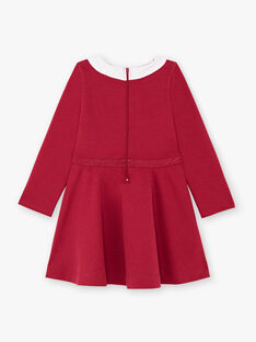 Robe bordeaux enfant fille BROCOLETTE2 / 21H2PFB5ROB719