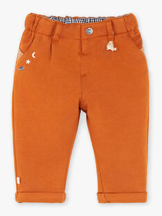 Pantalon camel en maille  VASIMON / 20H1BGY1PANB112