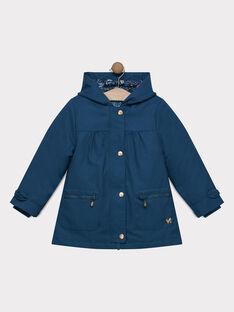 Parka 3 en 1 bleu canard à capuche fille SOUPILETTE / 19H2PF71IMP714