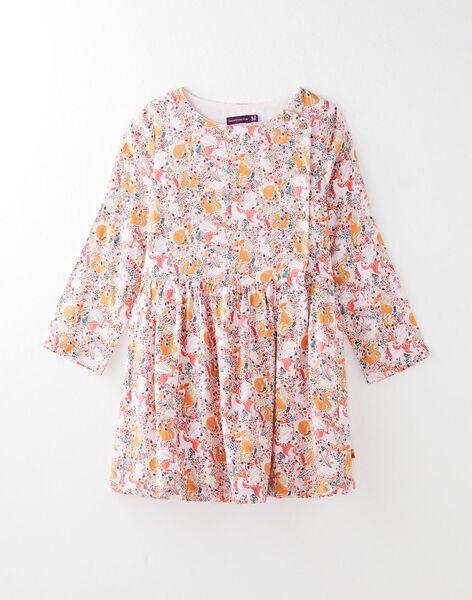 robe enfant à imprimé fleuri