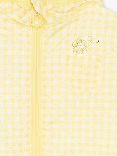 Coupe vent jaune à capuche et imprimé ZOUVICHETTE / 21E2PFM1CPV106