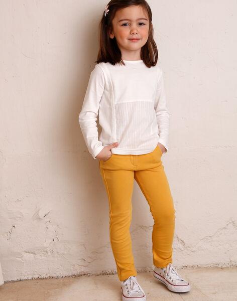 Pantalon jaune maille milano enfant fille ZLUPETTE2 / 21E2PFK2PANB106