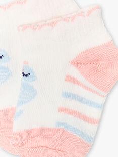Chaussettes écrues, roses et bleues bébé fille ZAPRETTY / 21E4BFT1SOB001