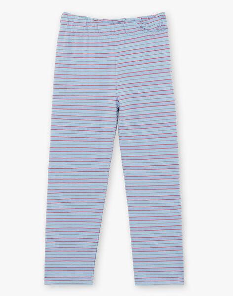Ensemble pyjama T-shirt et pantalon bleu enfant garçon ZEBAGAGE / 21E5PG15PYJC233