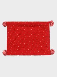 Snood rouge jacquard lurex fille SOIDONETTE / 19H4PFI1SNO050