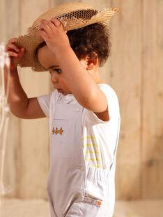 Salopette courte à rayures brodée bébé garçon ZAMATHIS / 21E1BGO1SACJ920