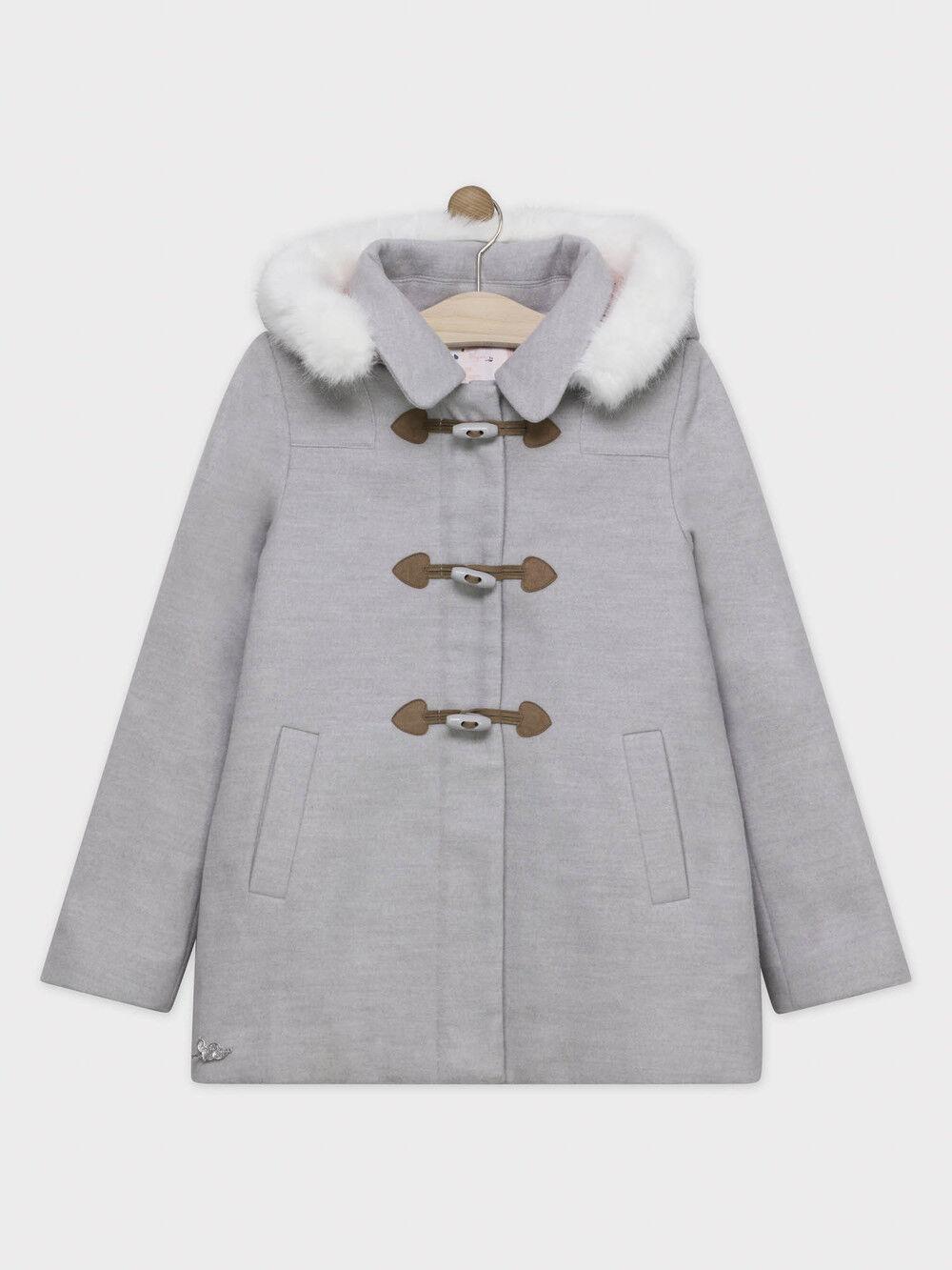 Manteau fourrure gris fonce