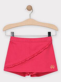Jupe short avec volant rose fille  TODOETTE / 20E2PFG2JPC302